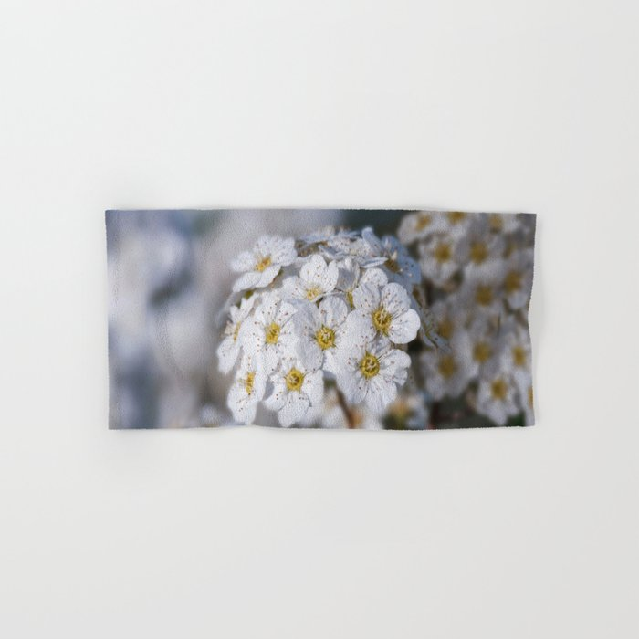 Bridal Wreath macro Hand & Bath Towel