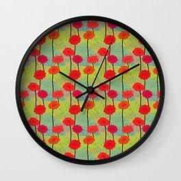 Fiori allegri stilizzati Wall Clock