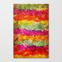 hindu Canvas Prints featuring Hindu Colors by Diego Tirigall