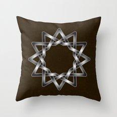 Elegant Celtic star design on texture Throw Pillow