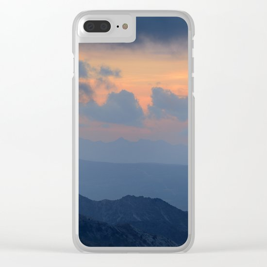 """""""Sunset at mountains"""" Mountain light Clear iPhone Case"""