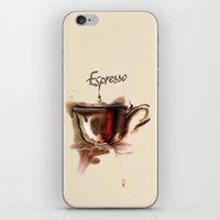 coffe iPhone & iPod Skins featuring coffe by tatiana-teni