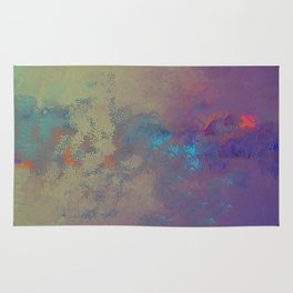 Industral Abstract, Cooling and Burning Metal Rug