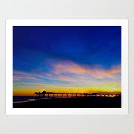 Avalon Pier  Art Print