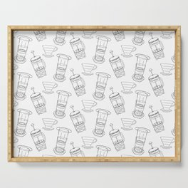 Coffee Brewing Pattern Serving Tray