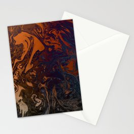 Orange Gradient Marble #marble #orange #blue #planet Stationery Cards
