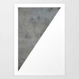 Concrete Vs White Art Print