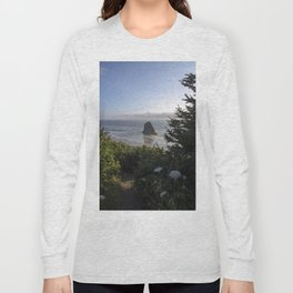 oregon coast at cannon beach overlook Long Sleeve T-shirt