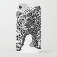 ornate iPhone & iPod Cases featuring Ornate Bear by BIOWORKZ