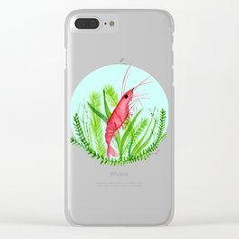Shrimp-y Clear iPhone Case