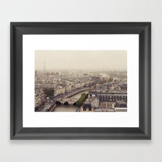 Foggy Brained Paris Framed Art Print