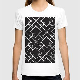 Bamboo Chinoiserie Lattice in Black + White T-shirt