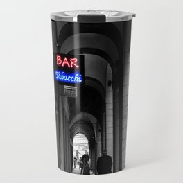 Bar Tabacchi in Bologna Black and White Color Splash Photography Travel Mug