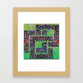 Interlocked pattern Framed Art Print
