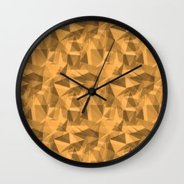 Abstract Geometrical Triangle Patterns 3 VA Bright Marigold - Spring Squash - Pure Joy - Just Ducky Wall Clock
