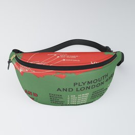 affiche England via Plymouth Save A Day Fanny Pack