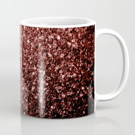 Beautiful Glam Marsala Brown-Red Glitter sparkles Coffee Mug