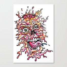 Pizza Face Canvas Print