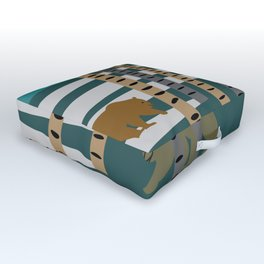 Bears walking in the forest Outdoor Floor Cushion