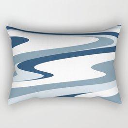 pattern blue white #pattern Rectangular Pillow