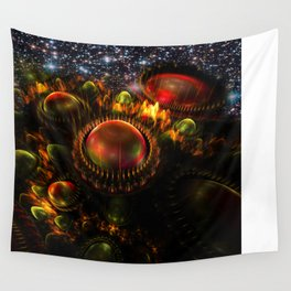 Starship Arriving Wall Tapestry