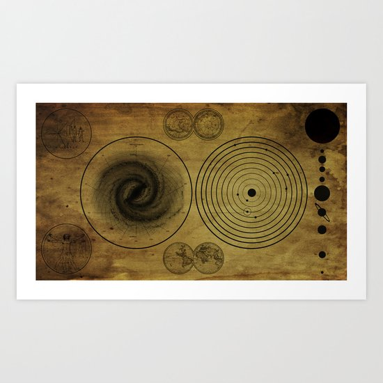Ancient Spacemap Art Print