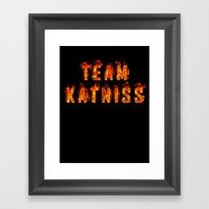 Team Katniss Framed Art Print