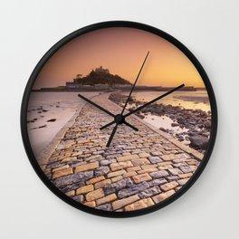 Saint Michaels Mount in Cornwall, England Wall Clock