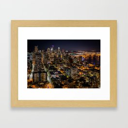 Seattle Nights Framed Art Print