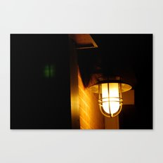 Yellow streetlight Canvas Print