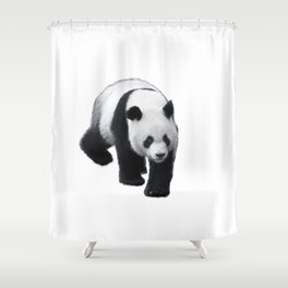 Walking Panda Shower Curtain