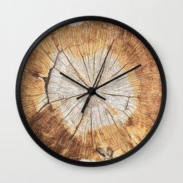 pattern log Wall Clock