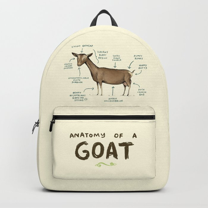 Anatomy of a Goat Backpack by sophiecorrigan | Society6