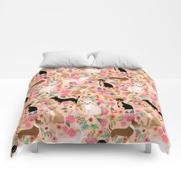 Chihuahua mixed coats dog breed floral pet art must have chiwawa lover gifts Comforters
