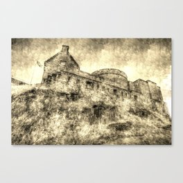 Edinburgh Castle Vintage Canvas Print