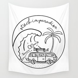 Stuck in Paradise Wall Tapestry