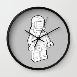 Vintage Spaceman Wireframe Minifig Wall Clock
