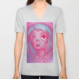 Pink Lady Pearls Unisex V-Neck