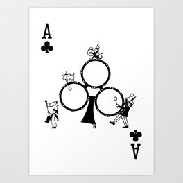 Sawdust Deck: The Ace of Clubs Art Print
