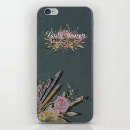 Nasty Women Resist: Les Fleurs de la Resistance iPhone Skin