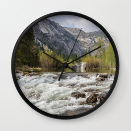 Mirror Lake and Rapids at Yosemite Wall Clock