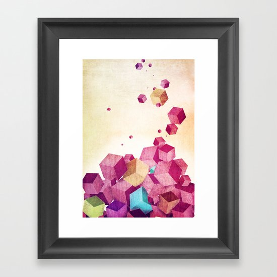 color cubes Framed Art Print