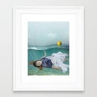 mermaid Framed Art Prints featuring Mermaid  by Mary Kilbreath