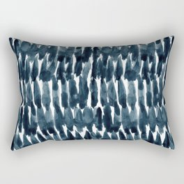 STAND UP Abstract Indigo Brush Stroke Rectangular Pillow