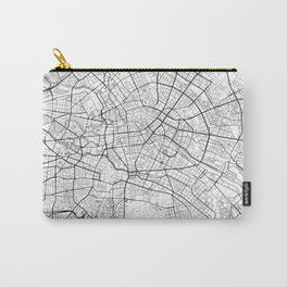 Berlin Map White Carry-All Pouch