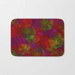 Abstract Floral Collage - Reds Bath Mat