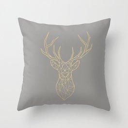Geometric Deer Throw Pillow