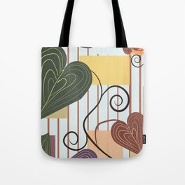 Hearts on Vines Tote Bag