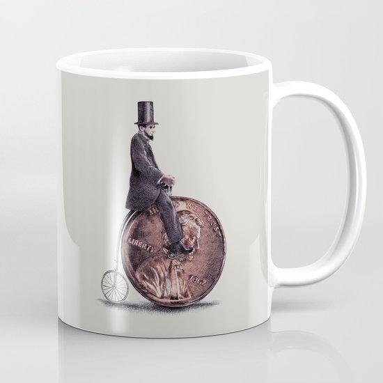 Penny Farthing (grey option) Mug