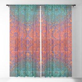 Mehndi Ethnic Style G351 Sheer Curtain